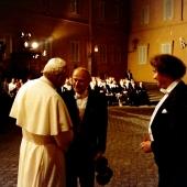 3. Papież JPII, Yehudi Menuhin przed koncertem