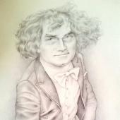 Jerzy Maksymiuk w karykaturze Susan Scott