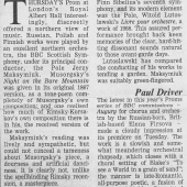 10. Paul Driver (Financial Times 08-08-1992)