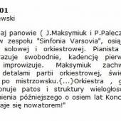 13. Kacper Miklaszewski (Ruch Muzyczny Nr 26 - 2001)
