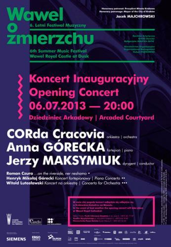 Koncert na Wawelu 6 lipca 2013 r.